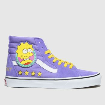 Vans Lilac Sk8-hi The Simpsons Womens Trainers