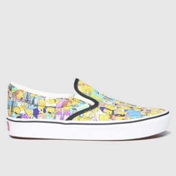 Vans Multi Comfychush Slip Simpsons Womens Trainers