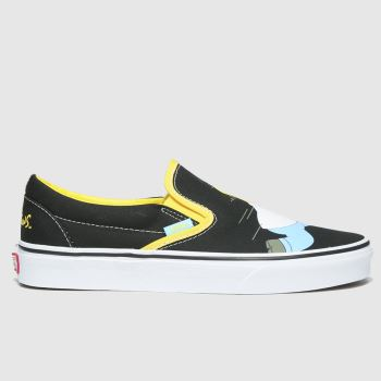 Vans Black & White Classic Slip-on Simpsons Womens Trainers#