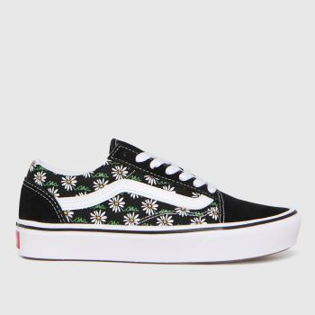 Vans Black & Green Comfycush Old Skool Womens Trainers