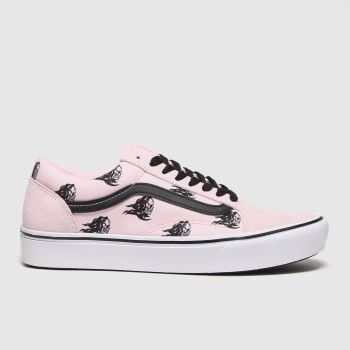 Vans Black & pink Comfycush Old Skool Womens Trainers#