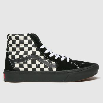 Vans Black & White Comfycush Sk8-hi Womens Trainers