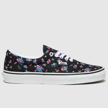 Vans Black & Red Era Ditsy Floral Womens Trainers