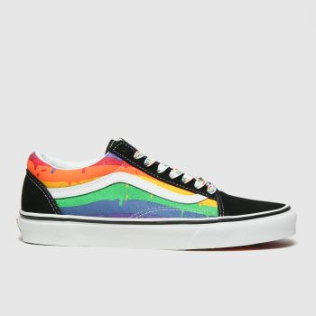 Vans Multi Old Skool Rainbow Drip Womens Trainers