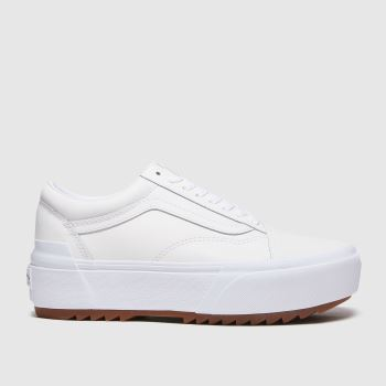 Vans White Old Skool Stacked Womens Trainers#