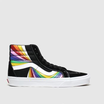 Vans Black & Yellow Sk8-hi Reissue Trainers