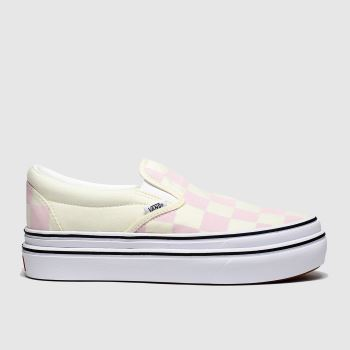Vans White & Pink Super Comfycush Slip-on c2namevalue::Womens Trainers