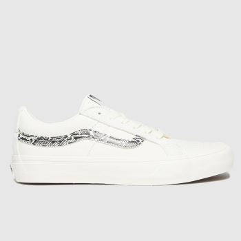 Vans White & Black Sk8-low Reissue Womens Trainers