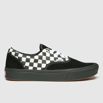 Vans Black & White Comfycush Era Womens Trainers#