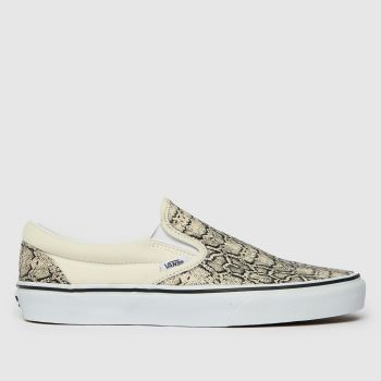 Vans Natural Classic Slip On Snake Womens Trainers