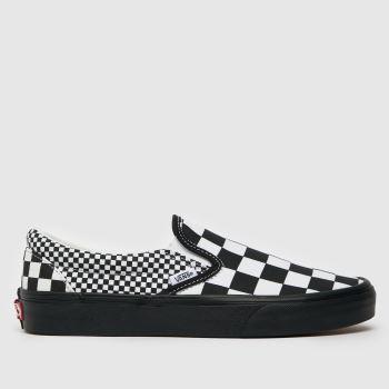 Vans Black & White Mix Checker Slip On Womens Trainers