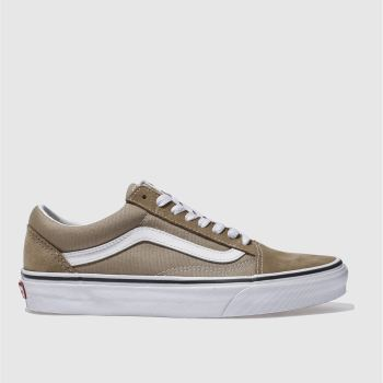 Vans Tan Old Skool Suede Womens Trainers
