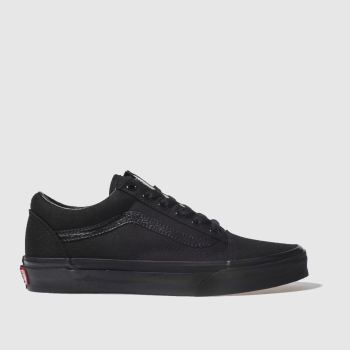 vans old skool black women slip on