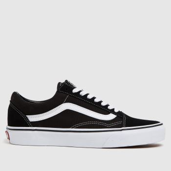Vans Black   White Old Skool Womens Trainers 138cb7569