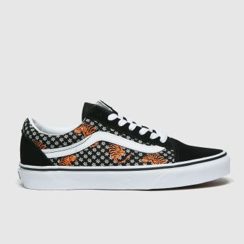 Vans Black & Brown Old Skool Tiger Floral Womens Trainers