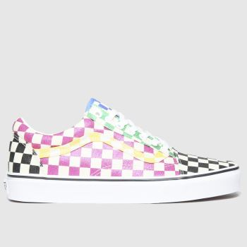 Vans Multi Old Skool Glitter Check Womens Trainers