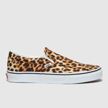 Vans Black & Brown Classic Slip-on Leopard Womens Trainers#