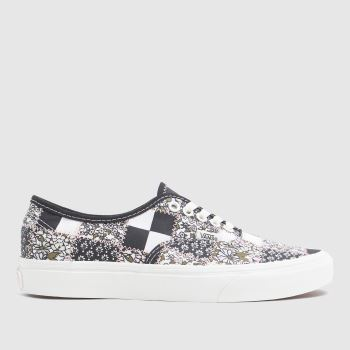 Vans White & Pink Patchwork Authentic Womens Trainers