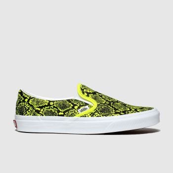 vans yellow classic slip-on trainers