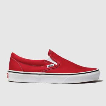 Vans Red Classic Slip-on Womens Trainers