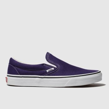 Vans Purple Classic Slip-On Womens Trainers