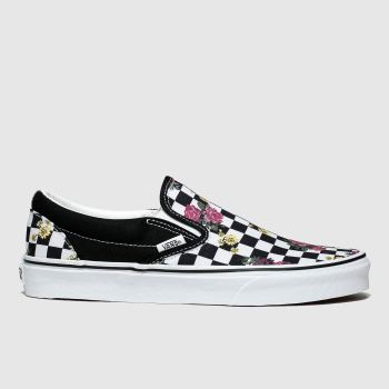 Vans Black & pink Classic Slip-on Womens Trainers#