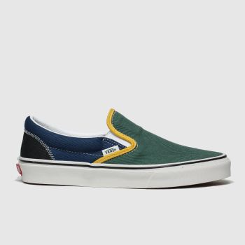 Vans Green & Navy Classic Slip-on Varsity Womens Trainers