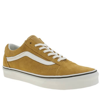 womens yellow vans old skool sport trainers  d7e921f800