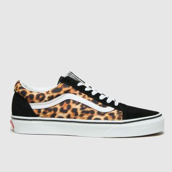 Vans Black & Brown Leopard Old Skool Womens Trainers