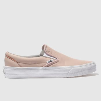 Vans Pale Pink CLASSIC SLIP ON Trainers