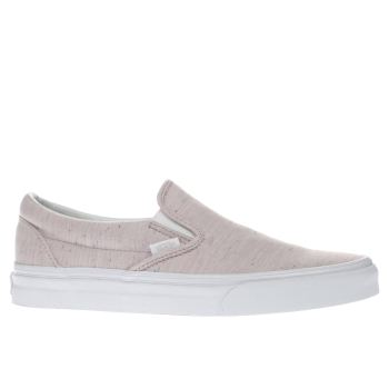 901e2a25ef58 womens pale pink vans classic slip speckled jersey trainers