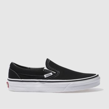 Vans Black & White Classic Slip Vi c2namevalue::Womens Trainers
