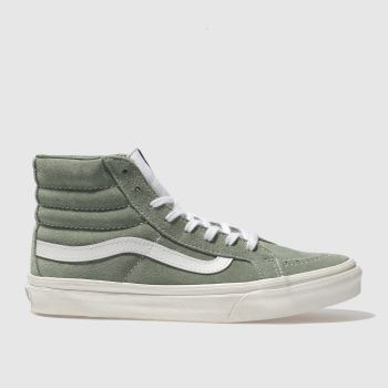 584d1ff55b womens green vans sk8-hi slim trainers