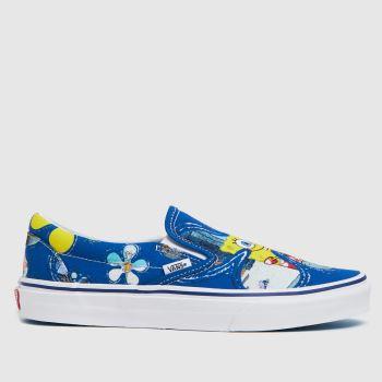Vans Blue Spongebob Slip-on Womens Trainers