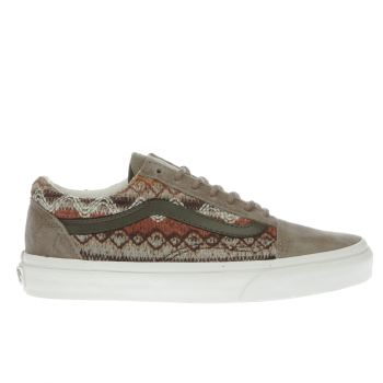 womens khaki vans old skool dx trainers  8069d5c70