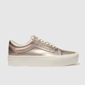 VANS GOLD OLD SKOOL PLATFORM TRAINERS