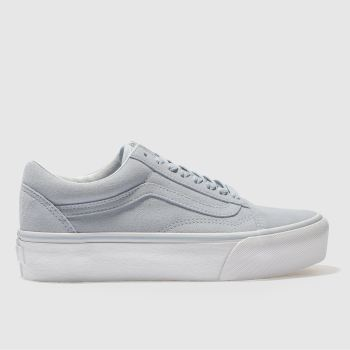 Vans Blue Old Skool Platform Womens Trainers