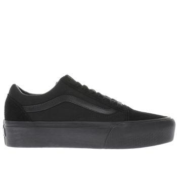 vans platform black