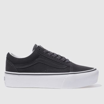 VANS DARK GREY OLD SKOOL PLATFORM TRAINERS