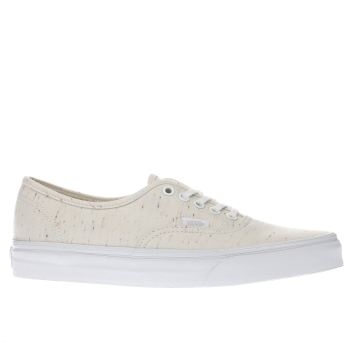 VANS CREAM AUTHENTIC SPECKLED JERSEY TRAINERS