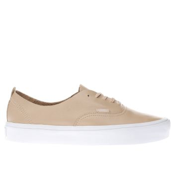 VANS NATURAL AUTHENTIC DECON LITE TRAINERS