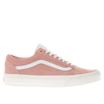 VANS PALE PINK OLD SKOOL RETRO SPORT TRAINERS