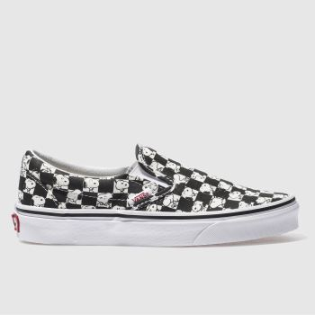 VANS WHITE & BLACK SLIP-ON PEANUTS SNOOPY TRAINERS