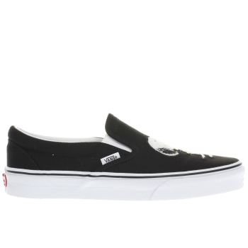 Vans Black Slip-On Peanuts Best Friend Womens Trainers