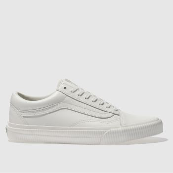 Vans White Old Skool Embossed Sidewall Womens Trainers