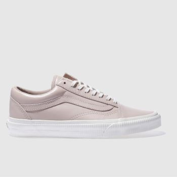 VANS PALE PINK OLD SKOOL EMBOSSED SIDEWALL TRAINERS
