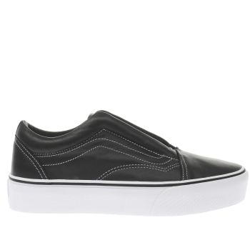 Vans Black Old Skool Laceless Womens Trainers