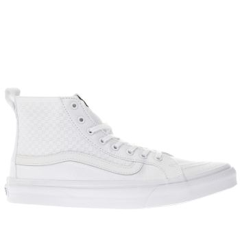 Vans White Sk8-Hi Slim Checker Gore Womens Trainers