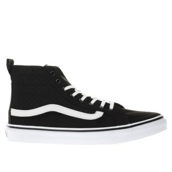 VANS BLACK & WHITE SK8-HI SLIM CHECKER GORE TRAINERS