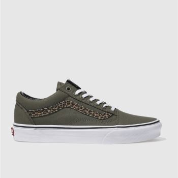 Vans Khaki Old Skool Womens Trainers
